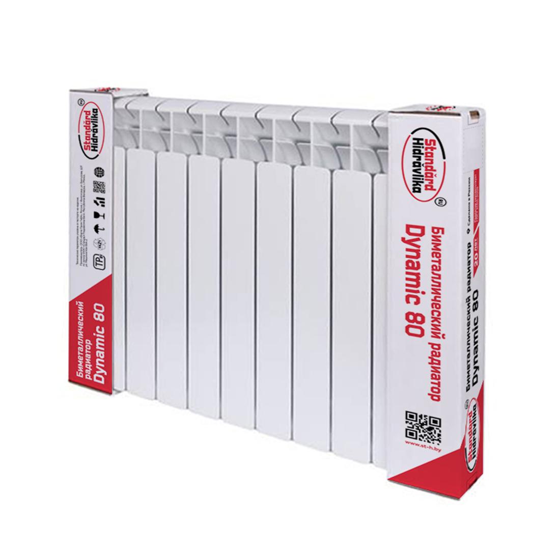 Биметаллический радиатор  Dynamic 80   1 cекция Standard Hidravlika