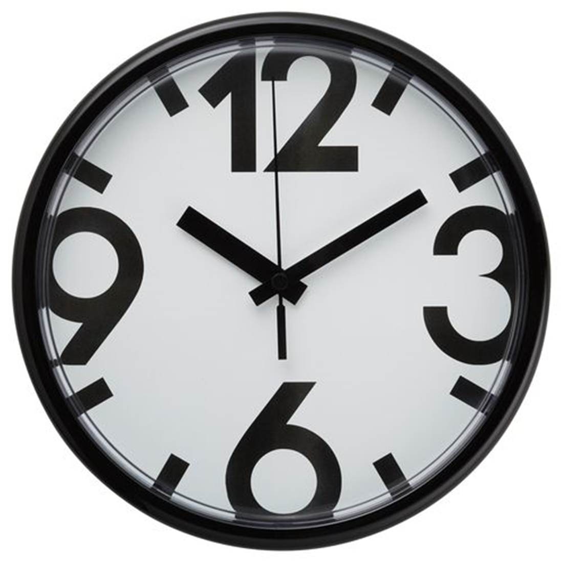 Настенные часы, белый, черный, 23 см ЮККЕ [802.984.69] 802.984.69